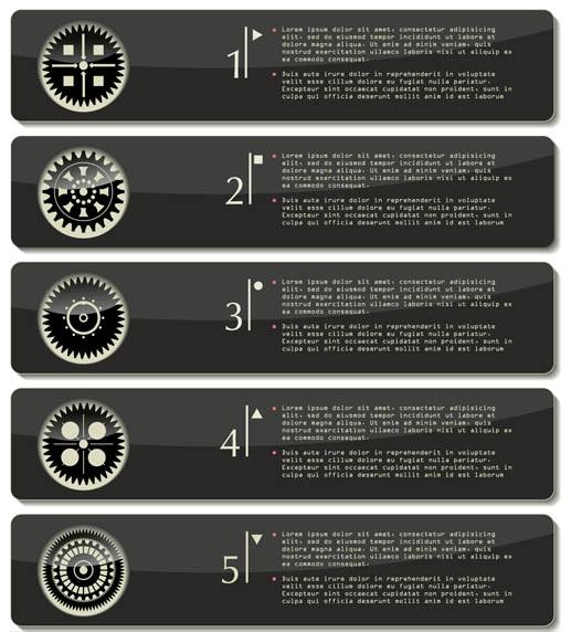Step Black Elements vector design
