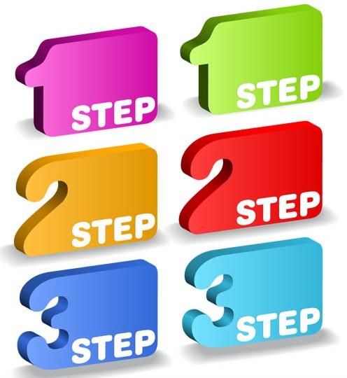 Step Shiny Elements 2 vector graphics