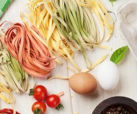 Stock Photo Cut pasta ingredients 02