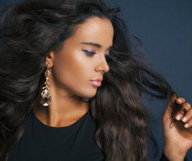 Stock Photo Woman Stylish make-up hairstyles 06