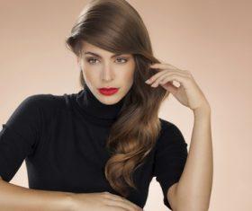 Stock Photo Woman Stylish make-up hairstyles 07