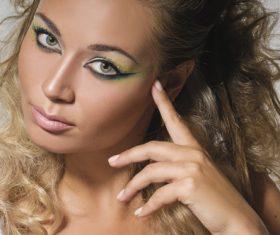 Stock Photo Woman Stylish make-up hairstyles 08