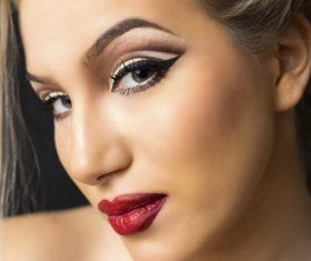 Stock Photo Woman Stylish make-up hairstyles 09
