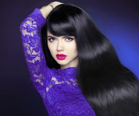 Stock Photo Woman Stylish make-up hairstyles 11
