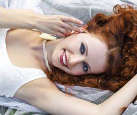 Stock Photo Woman Stylish make-up hairstyles 12
