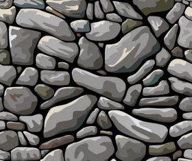 Stone wall textured background vectors set 02