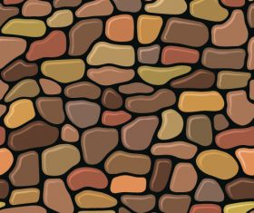 Stone wall textured background vectors set 04