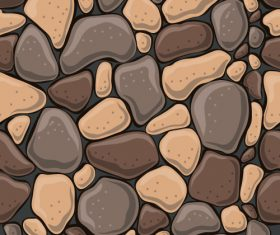 Stone wall textured background vectors set 07