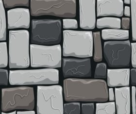 Stone wall textured background vectors set 08
