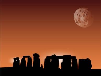 Stonehenge Background vector