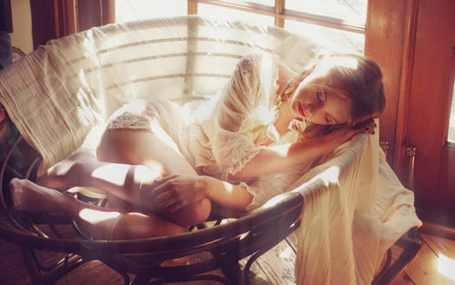 Studio Shot Sleeping Beauty Stock Photo