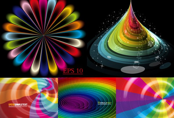 Stunning colorful space background vector