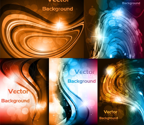 Stunning dynamic curve backgrounds vector