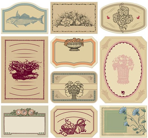 Style Labels free design vector