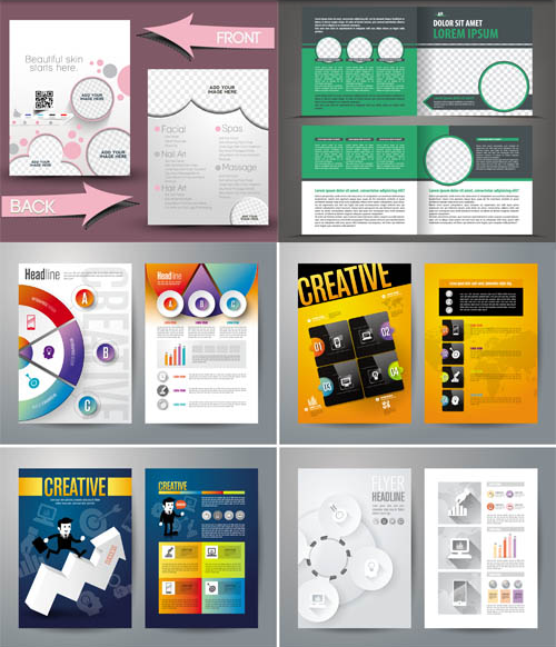Stylish Business Brochures 2 vector