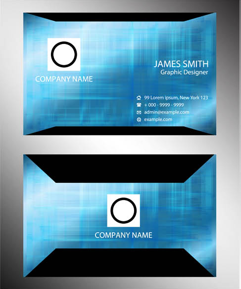 Stylish Business Cards Set 9 vector