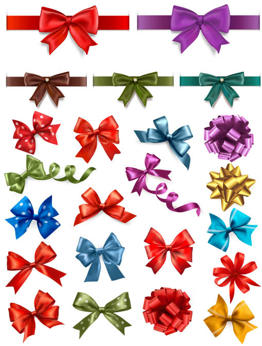 Stylish Colorful Bows vector
