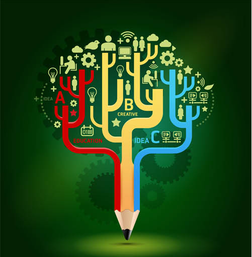 Stylish Education Backgrounds 2 vector