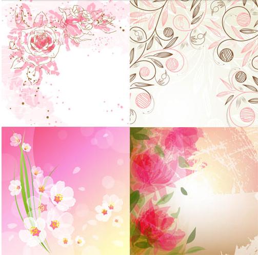 Stylish Floral Backgrounds vectors