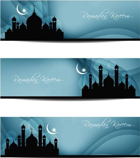 Stylish Islamic Banners art vector
