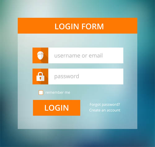 Stylish Login Forms vector