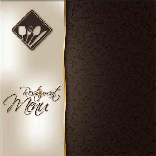 Stylish Menu Backgrounds Set vector