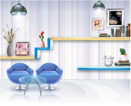Stylish Room vector