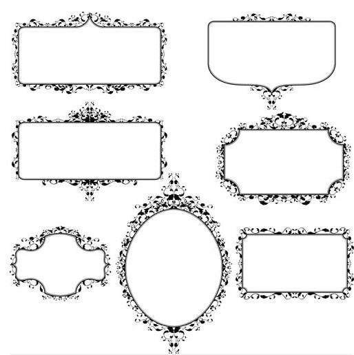Stylish Vintage Frames 13 vectors graphics