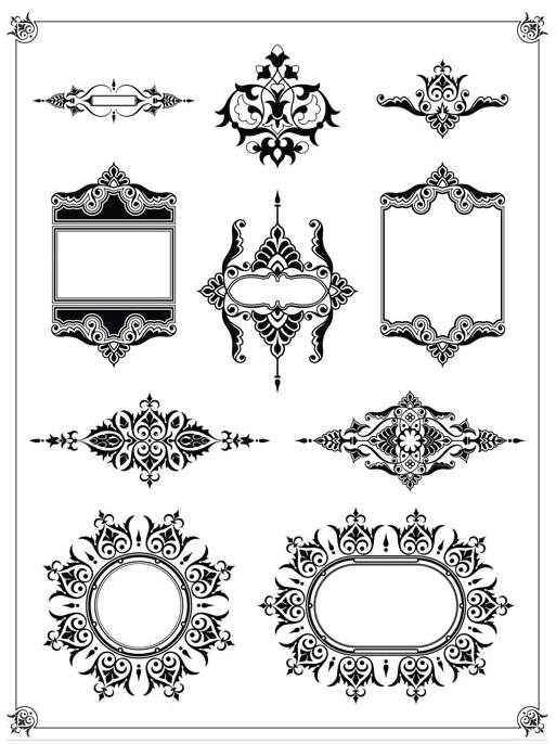 Stylish Vintage Frames 16 vector graphic
