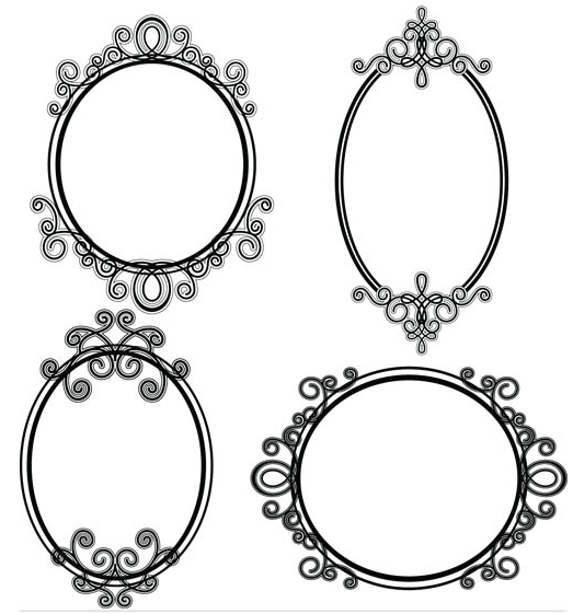 Stylish Vintage Frames set vector