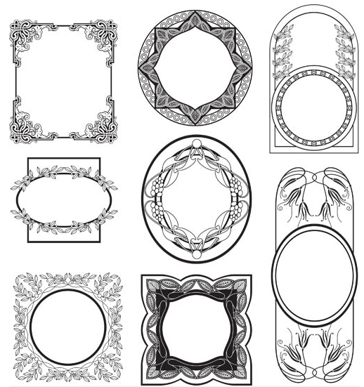 Stylish Vintage Frames 24 vector design