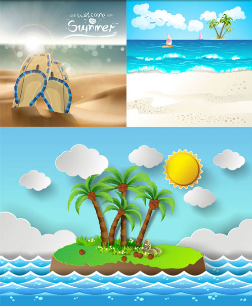 Summer Backgrounds free vector