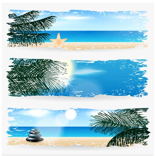 Summer Banners vectors