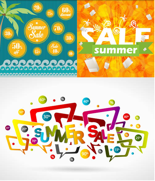 Summer Sale Backgrounds vector