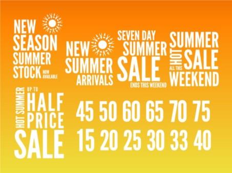 Summer Sales Graphics vector