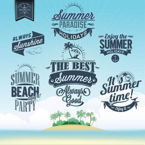 Summer Vintage Labels art vector