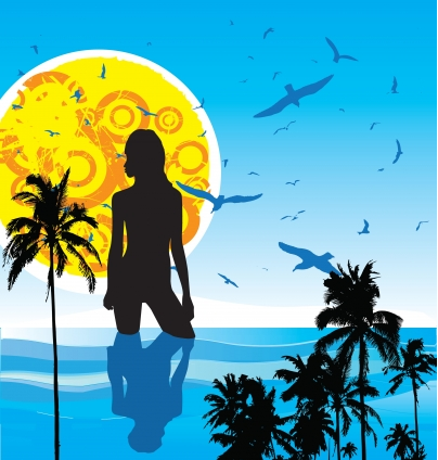 Summer heat vector set
