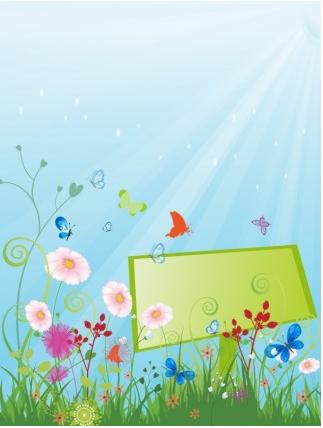 Summer meadow beautiful Free vector