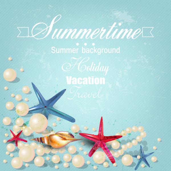 Summertime background 2 vectors