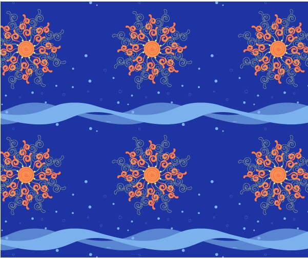 Sun and Motion Pattern vectors graphic