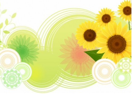 Sunflower Abstract Illustration design vectors