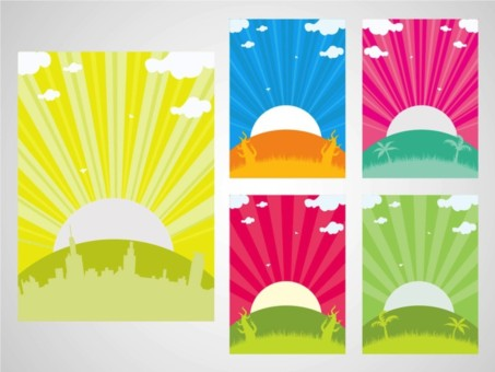 Sunset Backgrounds vector