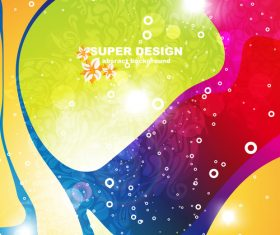 Super design abstract colored background vector