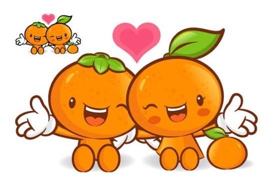 Super love cartoon fruit shiny vector