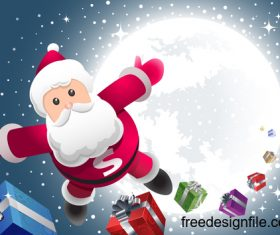 Super santa design vectors 02