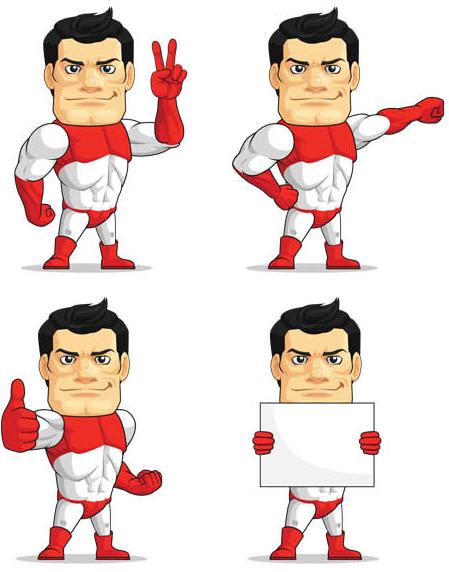 Superheroes vector
