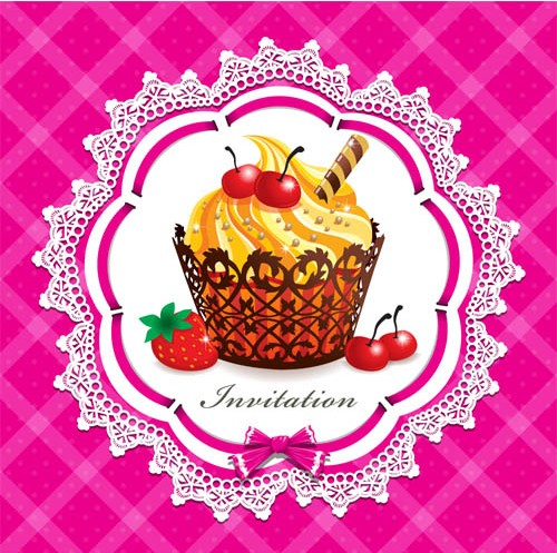 Sweets Backgrounds 4 vector