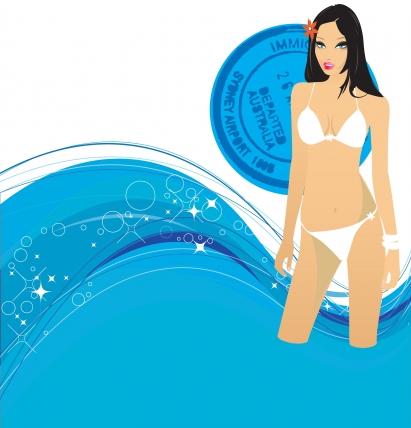 Swimming Free design vectors