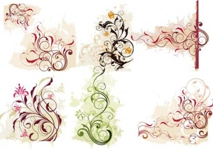 Swirl Flower vector graphics