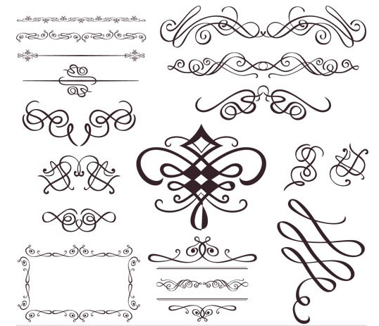 Swirl Vintage Elements free vector
